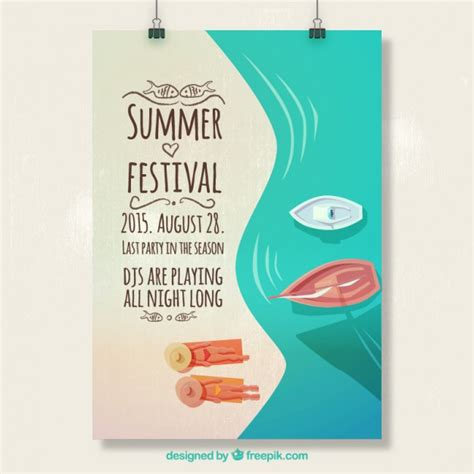 summer c poster template free summer festival poster free vector flyer