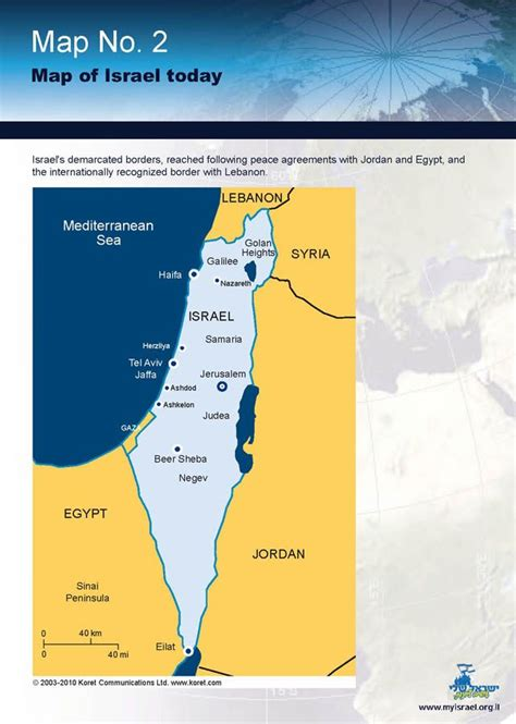israel map today map of israel today country israel