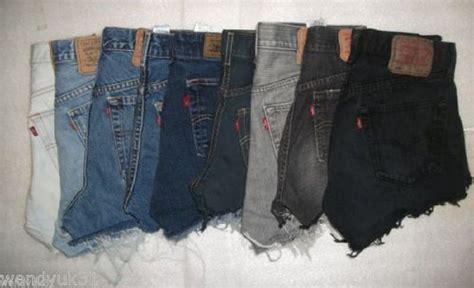 Levis Damen by Damen Hotpants Levis Vintage Zustand B Hoher Bund Denim