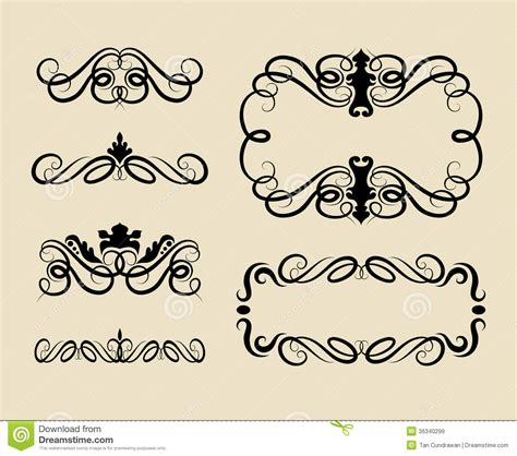 curl swirl ornament decorations stock vector image 36340299