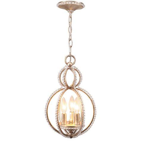 Mini Chandelier Lights Garland Three Light Bead Mini Chandelier By Crystorama