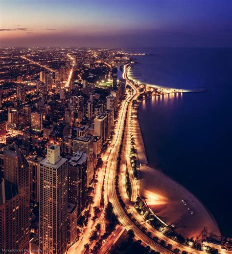 city of chicago light locations northern view from hancock center chicago usa