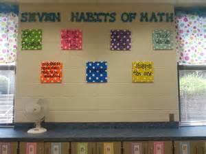 Math Classroom Decorations seven habits in math classroom bulletin boards