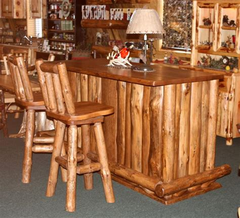 rustikale bar amish rustic wood bar