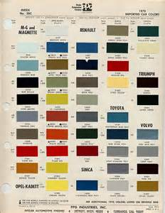 Volvo Paint Codes Volvo P1800 Colour Chips