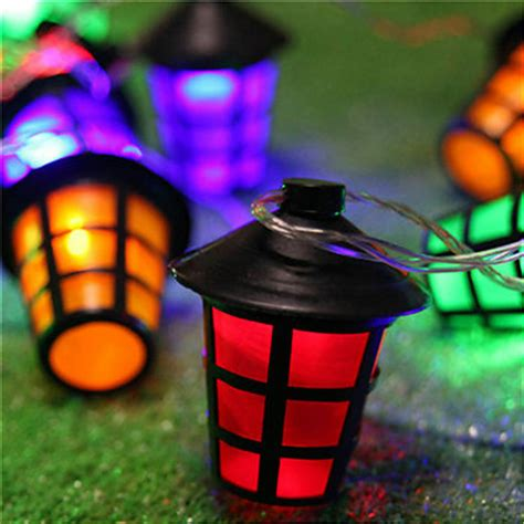 led patio lights string 10 led multi colour vintage hanging lantern garden