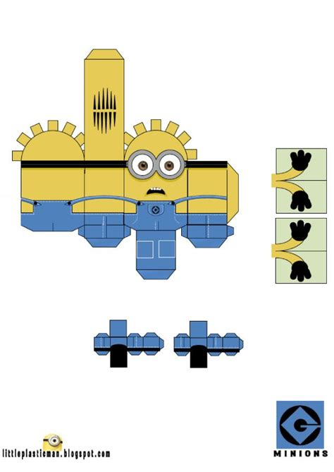 minion papercraft template papertoys minions toys summer and despicable me 2