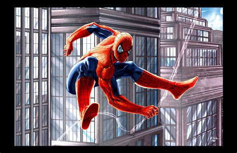 spider man web swing spiderman swinging city by erikvonlehmann on deviantart