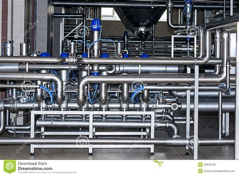 3d Interior Design by Stainless Steel Piping Stock Photo Image 43625132