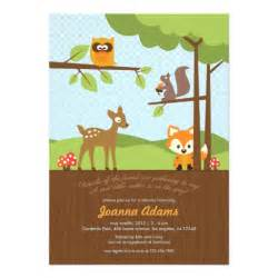 Woodland Critters Baby Shower woodland critters baby shower invitation 5 quot x 7