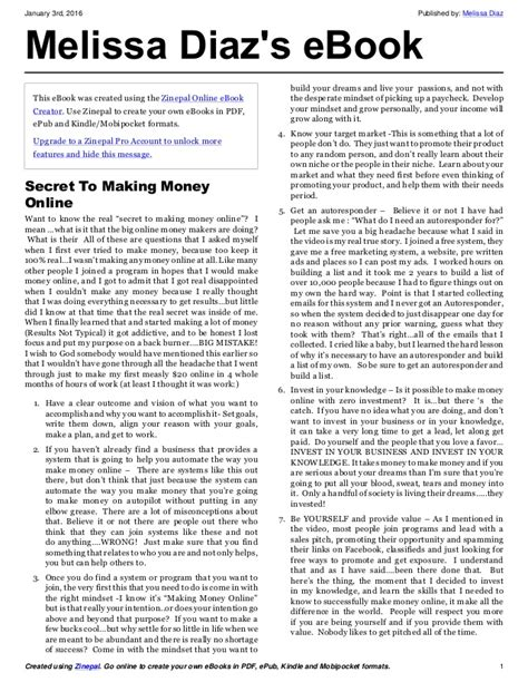 Secret To Making Money Online - the real secret to making money online revealed