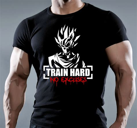 Work Out Shirt mens bodybuilding motivation goku t shirt mma