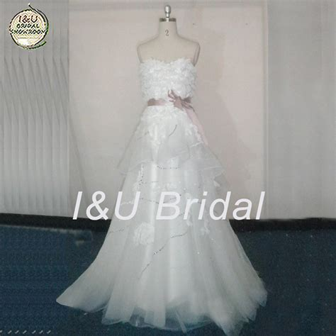 Custom Wedding Dresses Purple And White by Get Cheap Purple White Wedding Dress Aliexpress