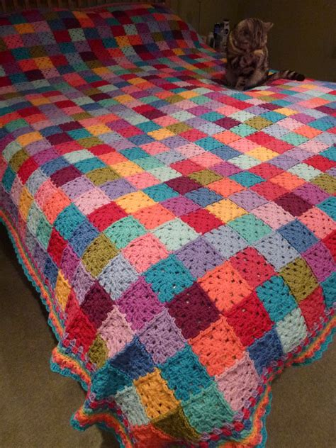 Crochet Patchwork Blanket - thrifty mummyhen ta dah square patchwork blanket