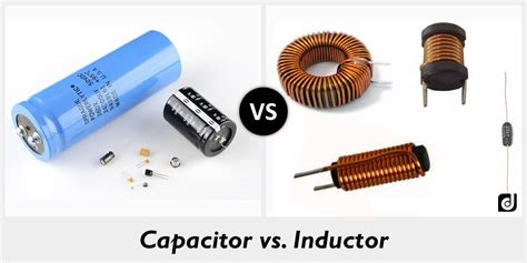 what is an inductor made of difference between capacitor and inductor