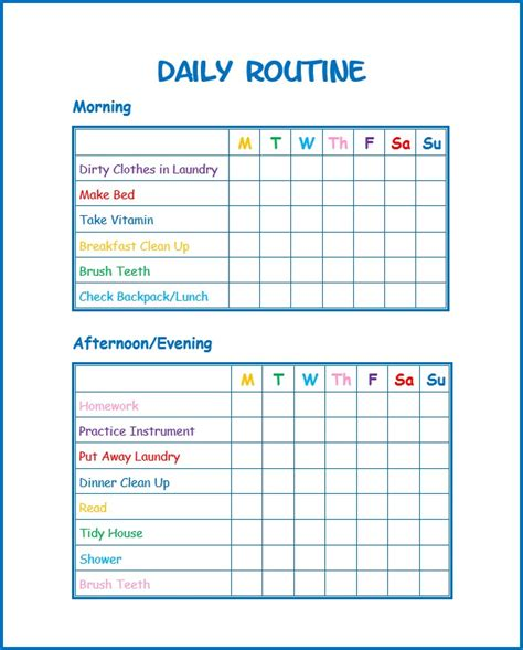 free printable routine planner this daily routine printable for kids will help kids stay