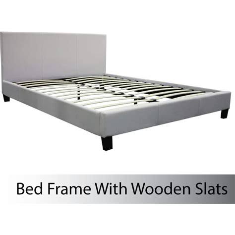 Leather Upholstered Bed Frame Size Pu Leather Upholstered Bed Frame White Buy Bed Frame