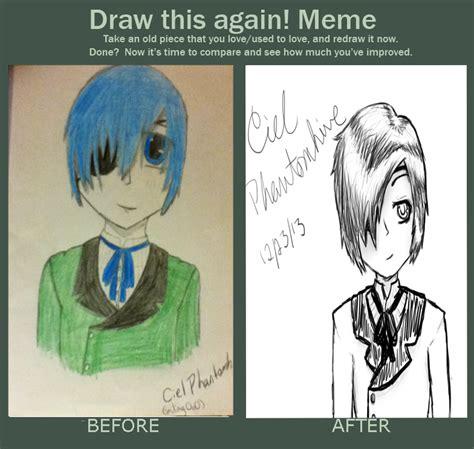 Ciel Phantomhive Memes - draw this again meme ciel phantomhive by gravuun lok on deviantart