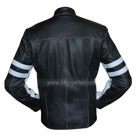 bike leathers for sale slim fit mens leather biker jacket with stripes for sale
