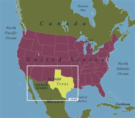 texas in map of usa teaching geography