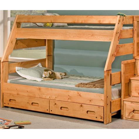 rc willey beds palomino twin over full bunkbed with trundle
