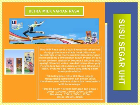 Ultra Milk 1000ml ppt company profile pt ultrajaya