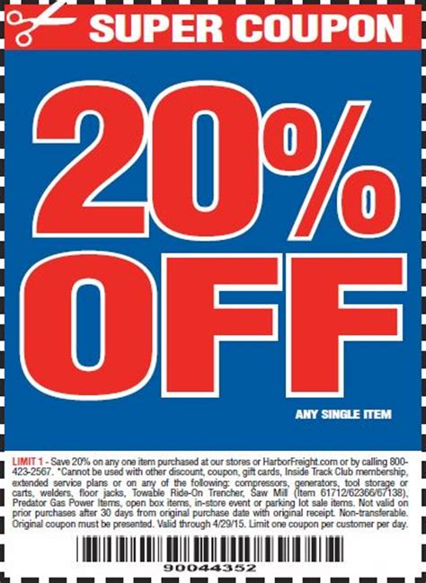 harbor freight coupons 20 off printable harbor freight 25 off coupon 2017 2018 best cars reviews