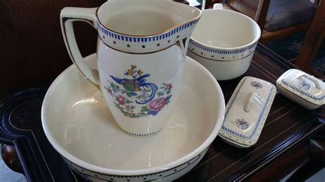 bathroom jug and bowl set boch freres la louviere belgium bathroom set 1920 s rare