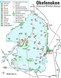 okefenokee sw map of okefenokee artichokee southern swland at its best