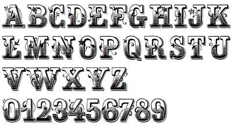free printable victorian alphabet letters old western font alphabet pictures to pin on pinterest