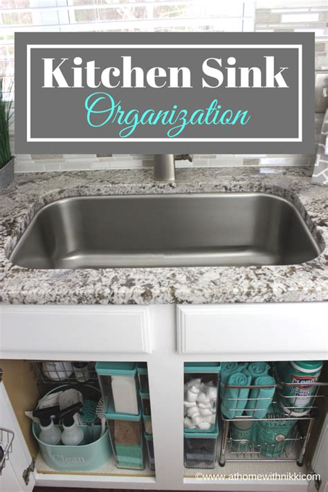 at home with how to organize the kitchen sink