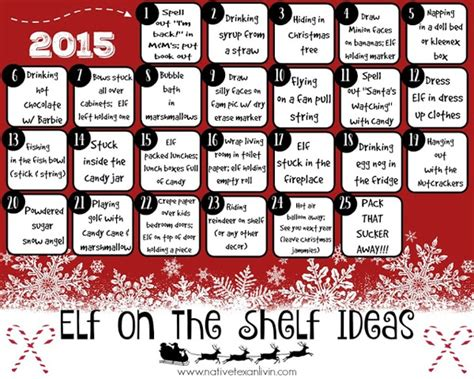 printable elf on the shelf ideas free 15 free elf on the shelf printables pretty my party