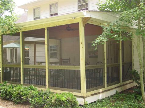 porch plans screened porch building plans