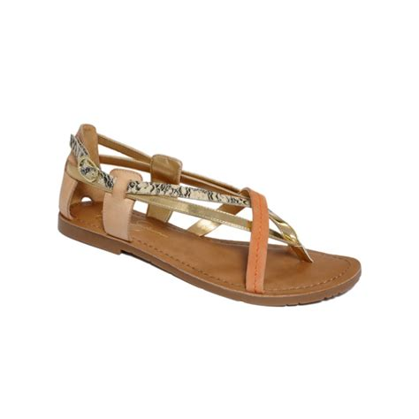 ivory flat sandals jamilia flat sandals in brown gold ivory