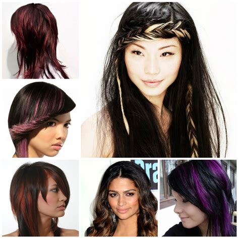 highlight colors for black hair hair highlights 2019 haircuts hairstyles and hair colors