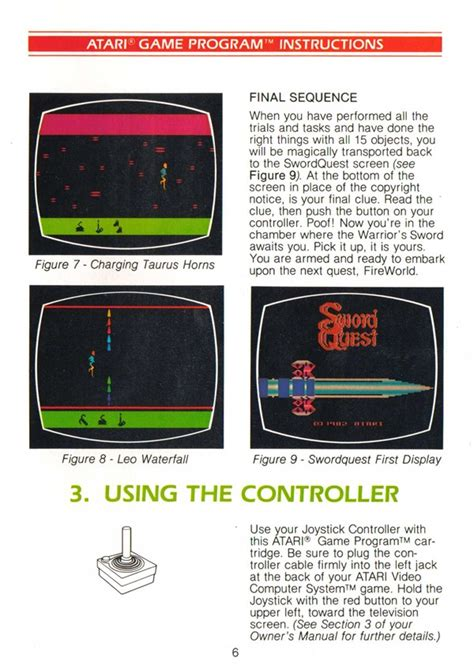 adventure the atari 2600 journal books atari 2600 vcs swordquest earthworld scans dump