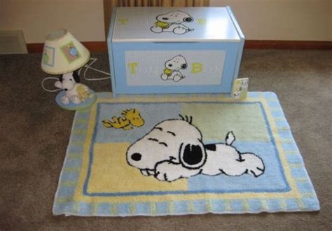 peanuts baby room snoopy box l and rug baby room trees toys and ls