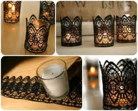 easy ideas for home decor diy black lace candles diy crafts craft ideas easy crafts