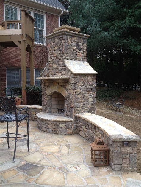 custom outdoor fireplace and quot spool quot in alpharetta ga