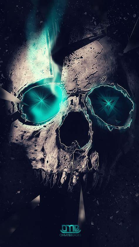 Wallpaper Iphone Skull | blue skull wallpaper free iphone wallpapers