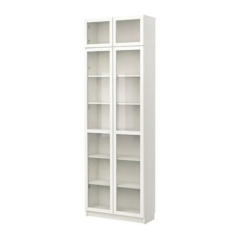 Ikea White Bookcase With Glass Doors Home Furnishings Kitchens Appliances Sofas Beds Mattresses Ikea