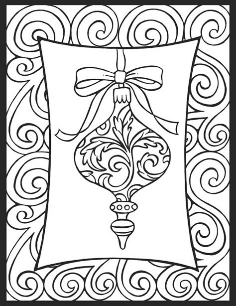 christmas pattern to colour a crowe s gathering christmas ornament coloring page