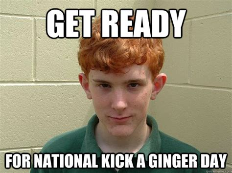 Ginger Meme - kick a ginger day head full of red