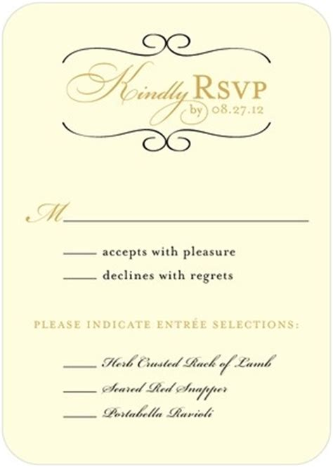 Wedding Paper Divas Rsvp Cards by Restored Calendar Signature White Wedding Response Cards
