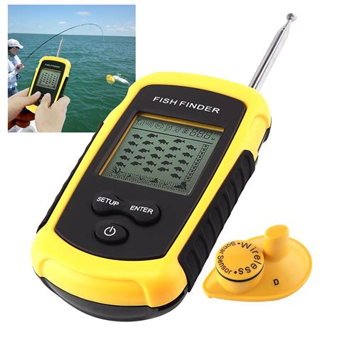 Ultrasonic Water Depth Meter Tester Finder Indicator 50m H drahtlose sonar fish finder tragbare fischfinder echolot alarm 40m 131ft ebay