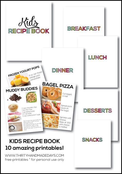 kids recipe book