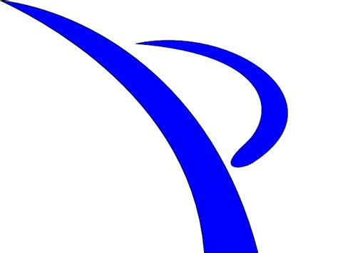 Swoosh Clipart blue swoosh kicker clip at clker vector clip royalty free domain
