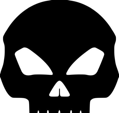 Black Skull clipart black skull