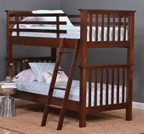 Amish Bunk Beds With Stairs Amish Bunk Beds With Stairs Amish Bunk Bed With Steps In Solid Wood Usa Made Children S