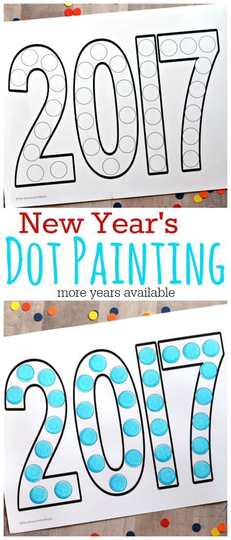 new year 2016 and activities dot painting new year s activity for